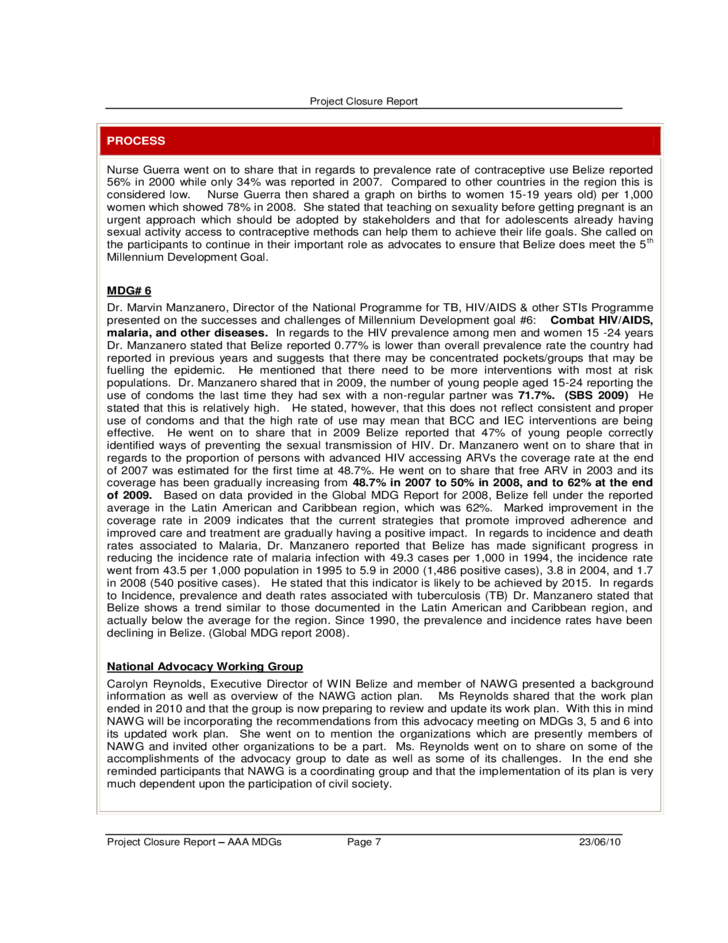 project closure report free download