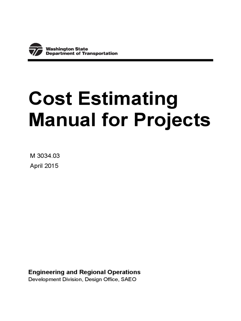 Project Cost Estimate Template  Cost Estimate Template Word