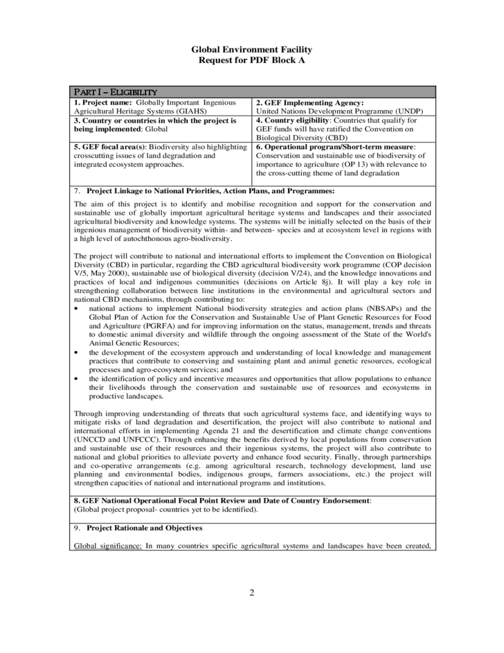 Project Documentation Template - United Nations Free Download