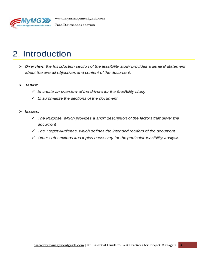 Project Feasibility Study Document Template