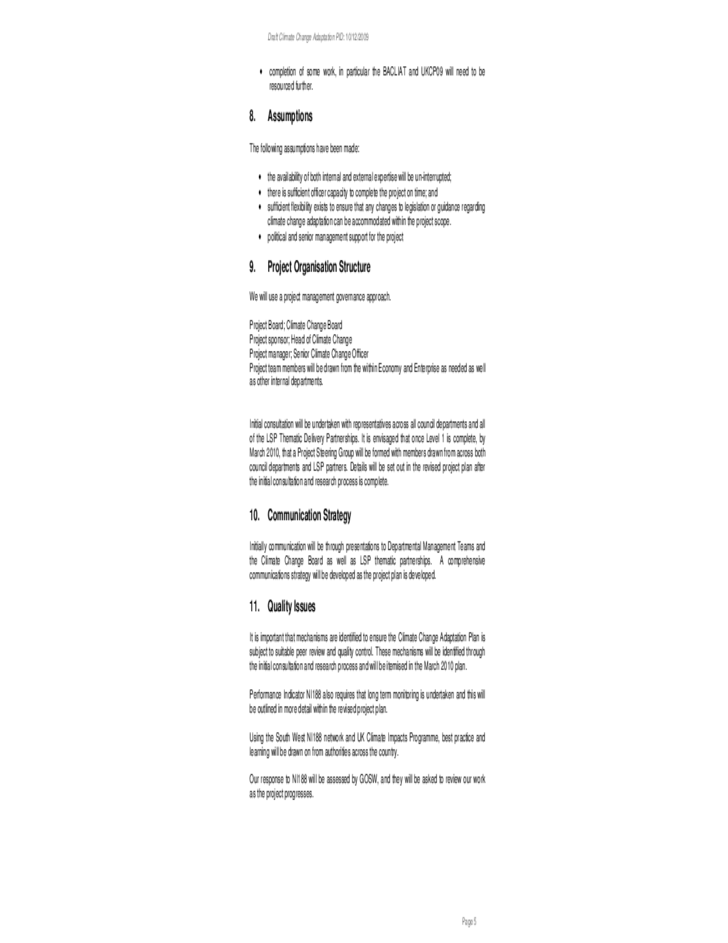 standard project initiation document template free download