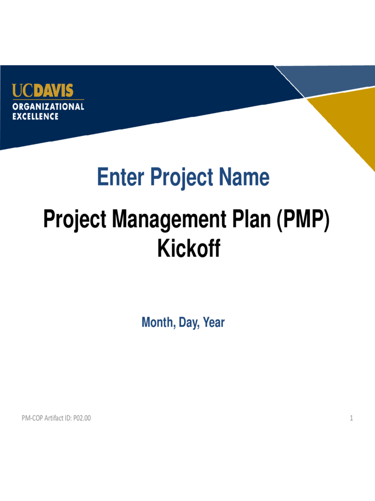Project Management Plan PPT Free Download