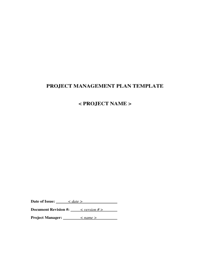 Project Management General Plan Free Download