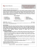Project Manager Resume Sample Free Download