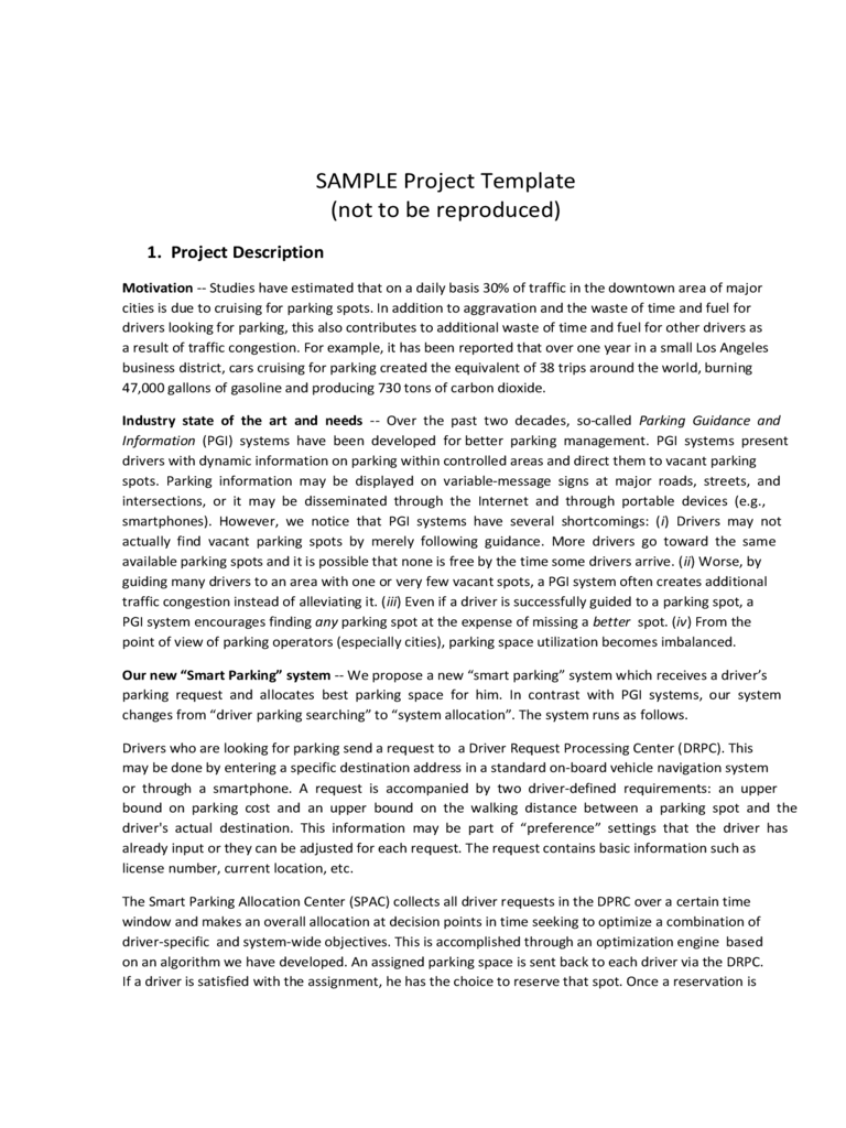 Project Overview Template 2 Free Templates in PDF Word Excel – Project Overview Template