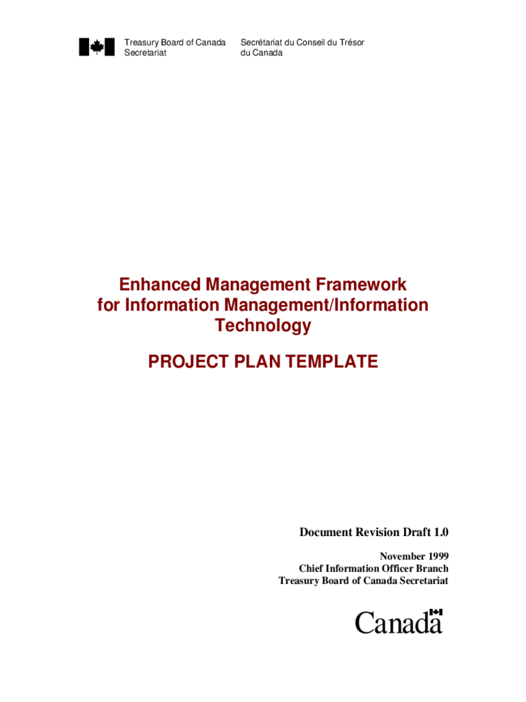 Project Plan Template - Canada