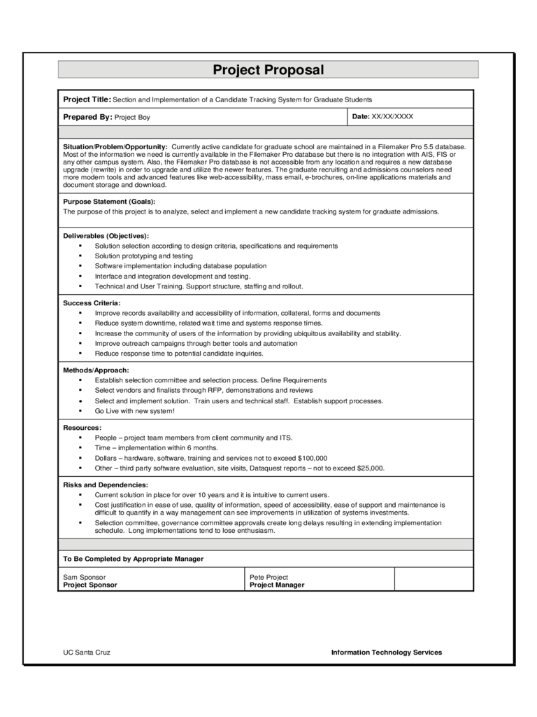 Doc600700 Free Job Proposal Template Sample Job Proposal – Proposal Sample Template