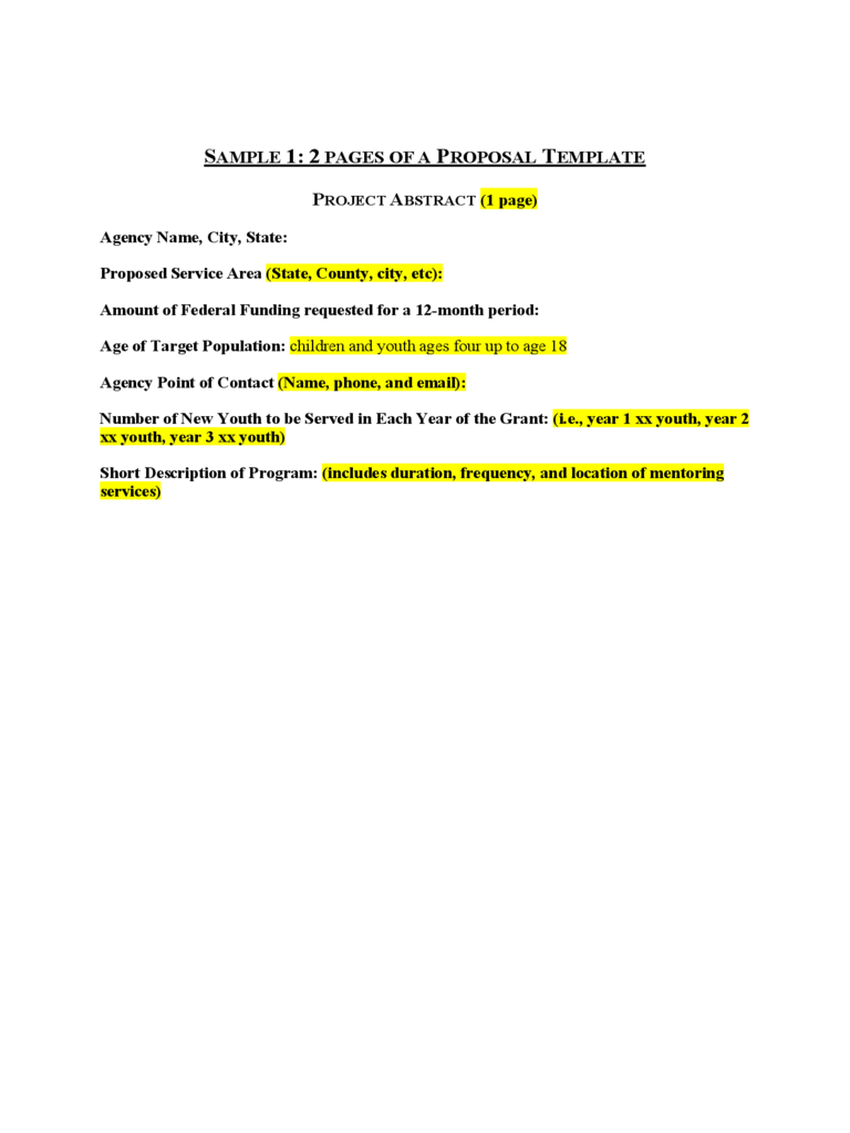 Project Proposal Template 10 Free Templates In Pdf Word Excel