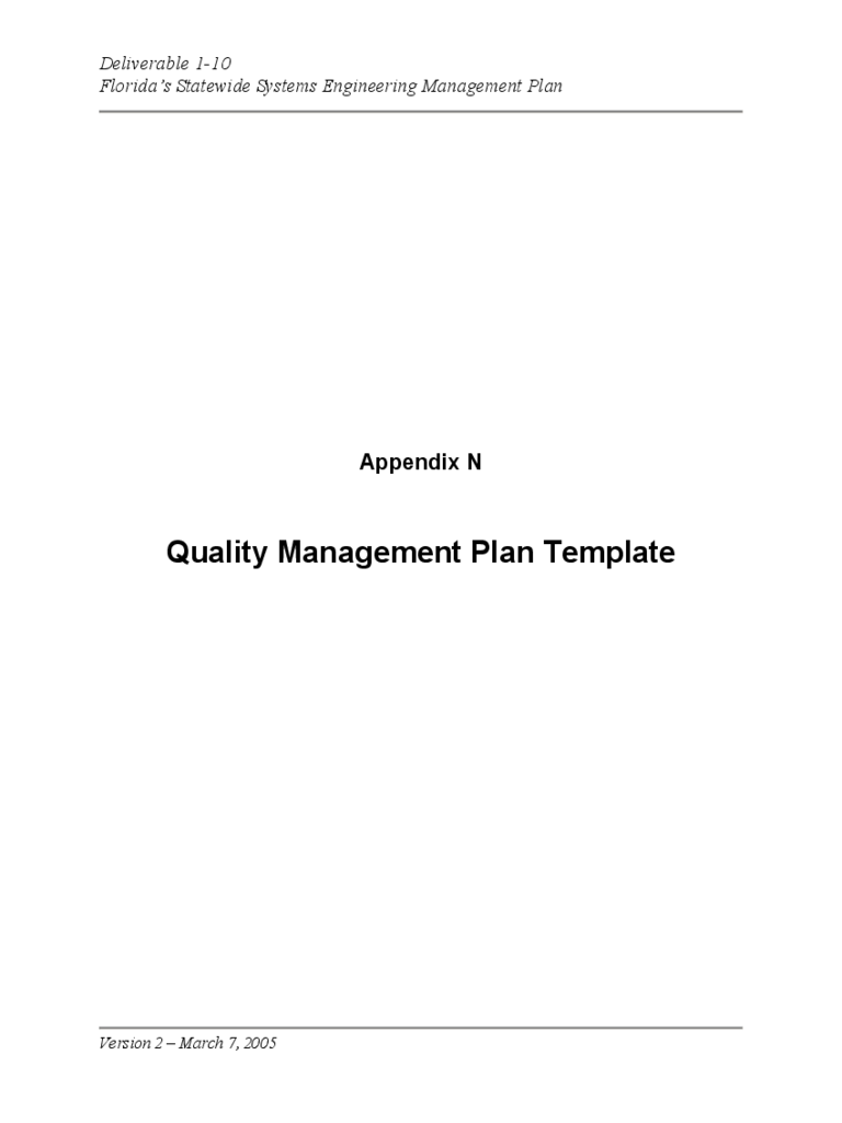 quality control policy template - project quality management plan template 2 free