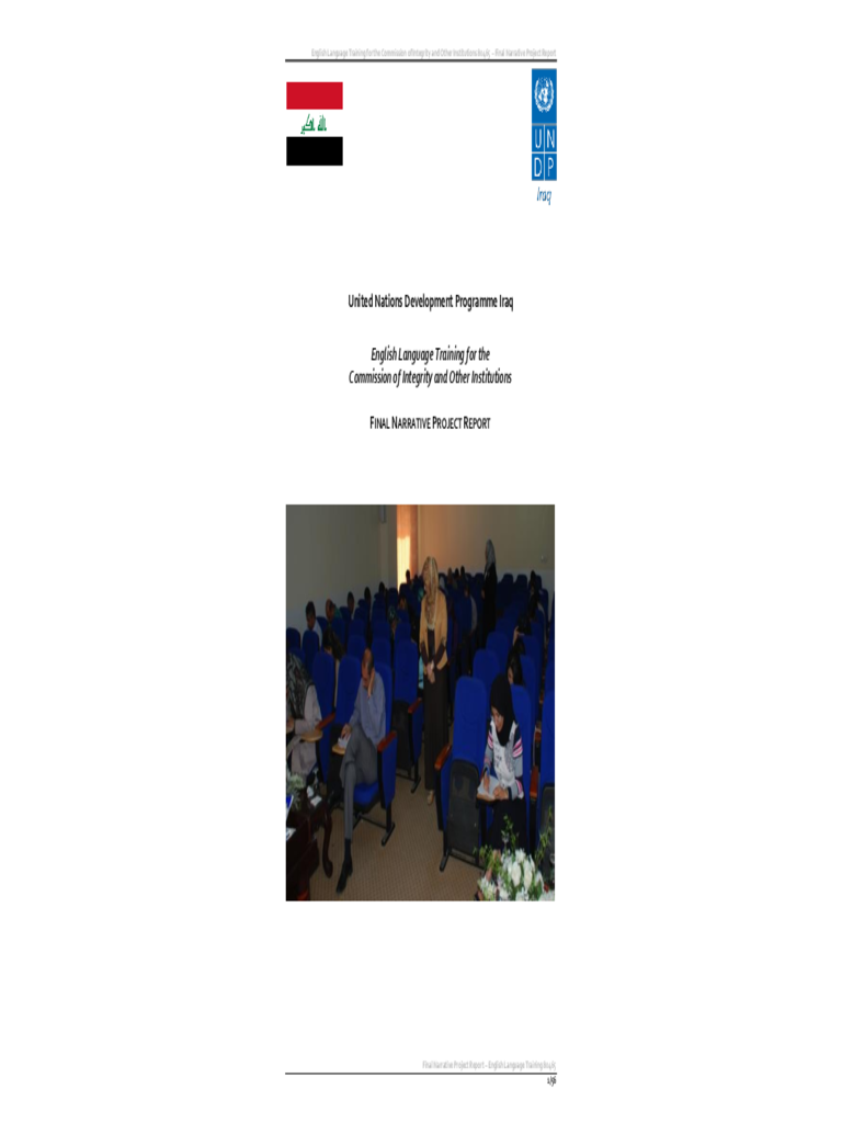 Final Narrative Project Report - United Nations Development Programme Free Download