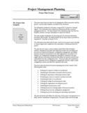 Project Plan Format Free Download