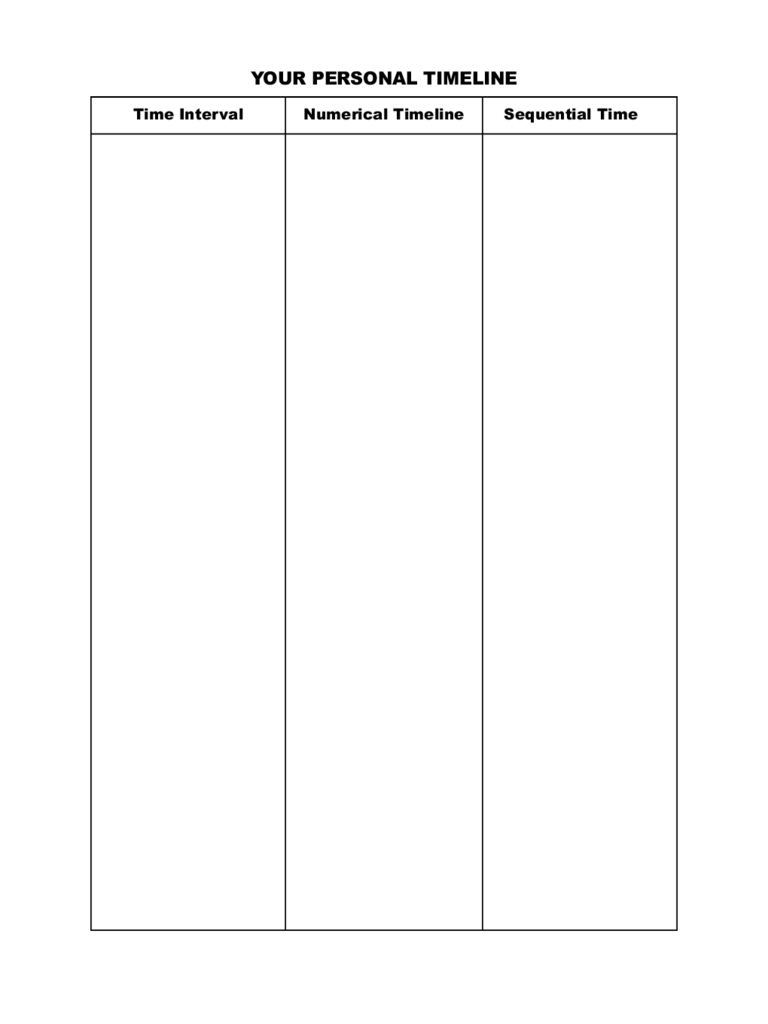 Project Timeline Template 13 Free Templates in PDF Word Excel – Personal Timeline Template