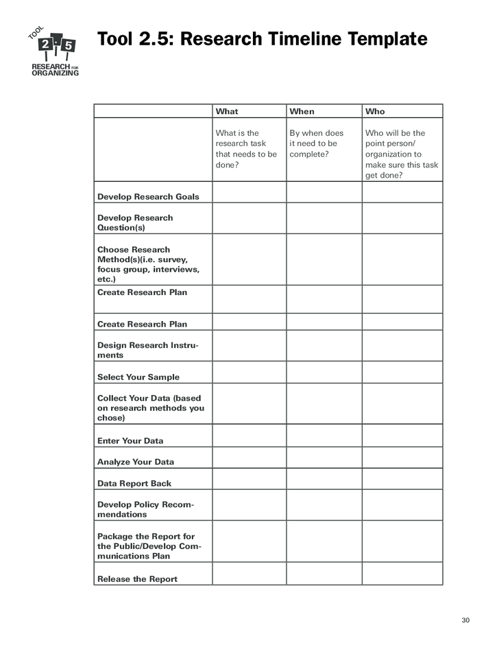 data backup plan template - research timeline template free download