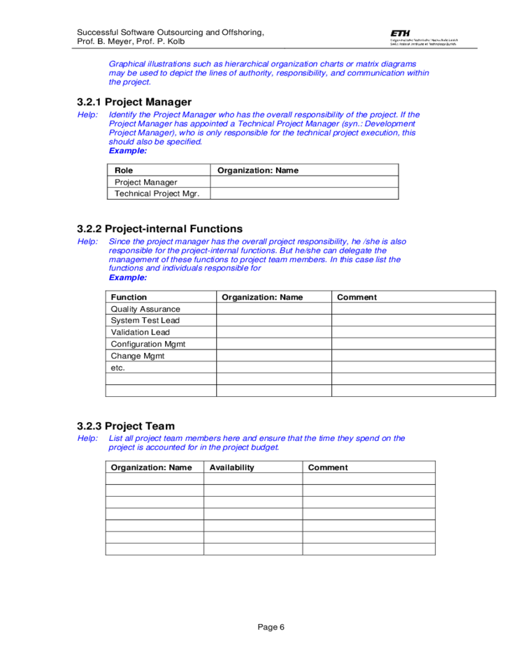 Template Project Plan Free Download