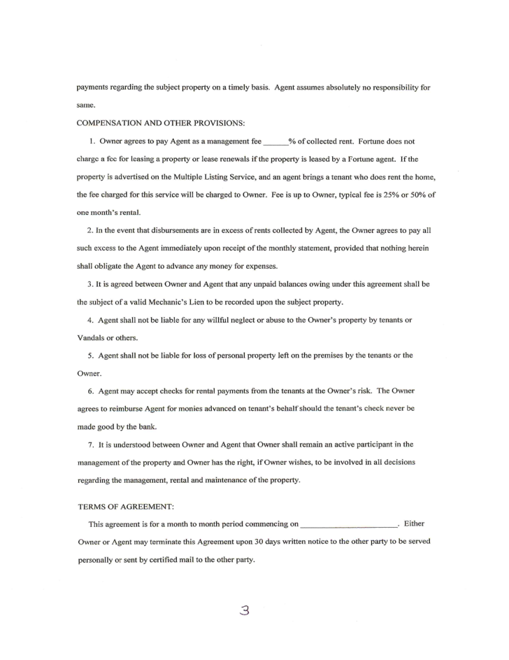 property management agreement free download