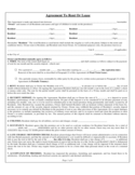 Property Rental and Lease Sample Form Free Download
