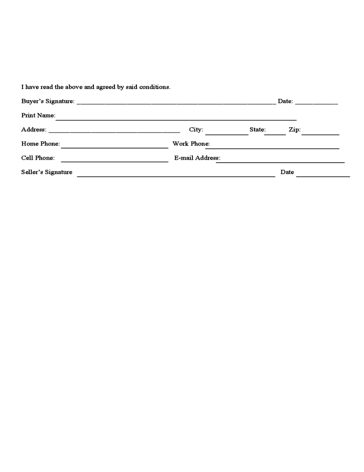 Puppy Sales Contract Form - Colorado Free Download