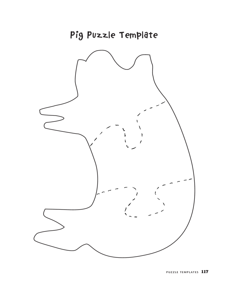 Pig Puzzle Template