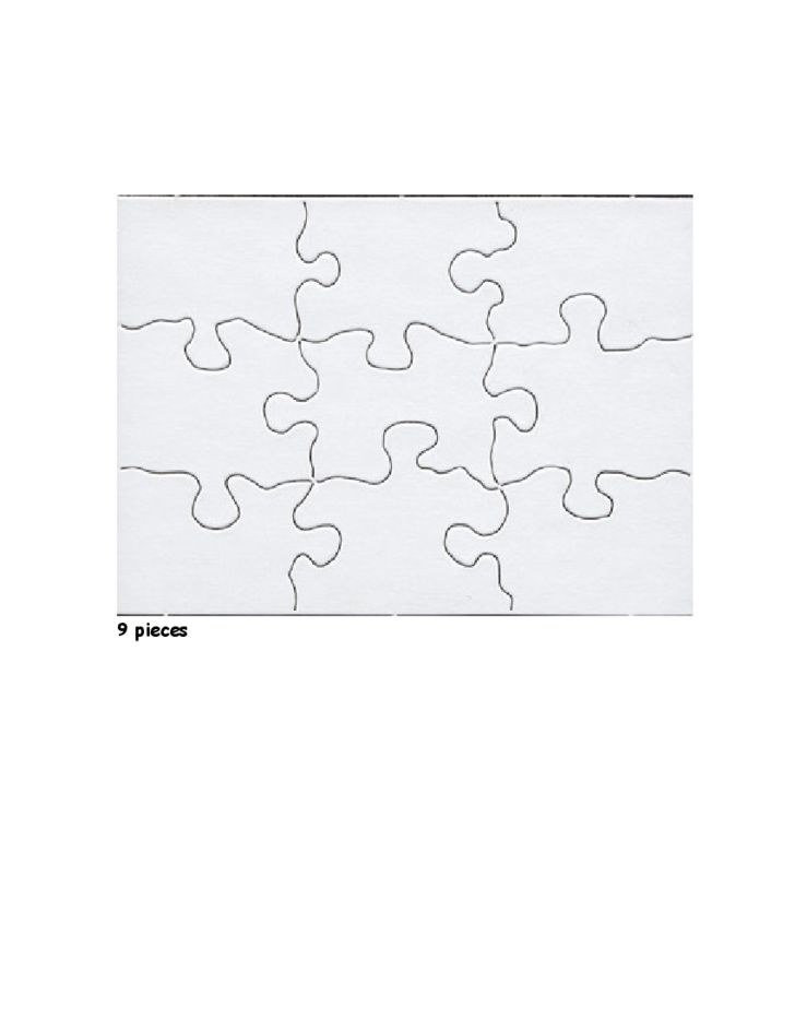 Blank Jigsaw Puzzle Template Free Download