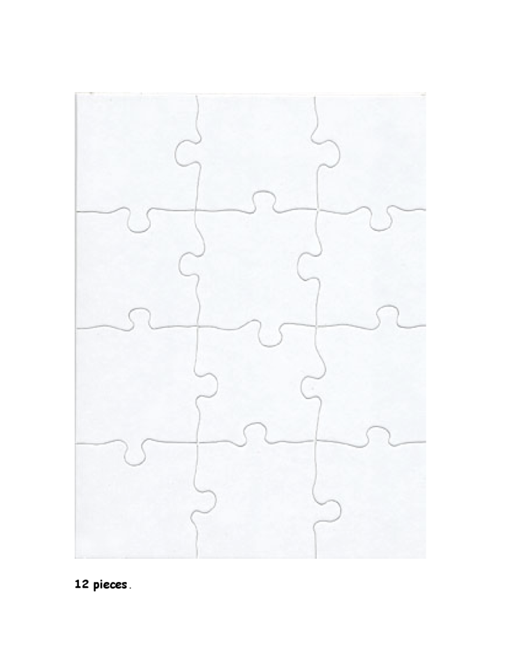 Blank Jigsaw Puzzle Templates Make Your Own Jigsaw 924585