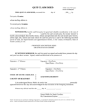 Blank Quit Claim Deed - South Carolina