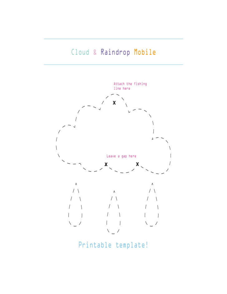 Cloud and Raindrop Mobile Template