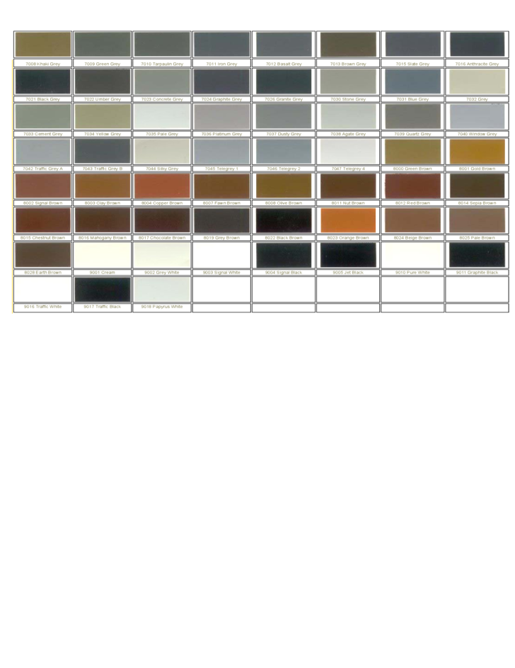 Concise RAL Color Chart