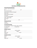 New Ration Card Application Form Free Download