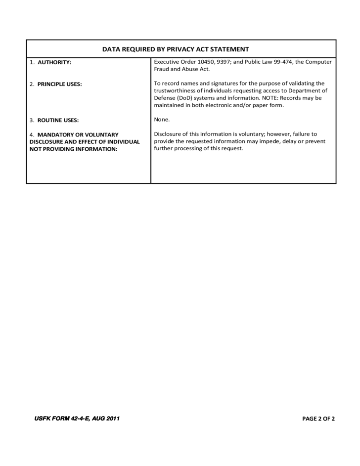 Unit Ration Card and Monitor System Application Form