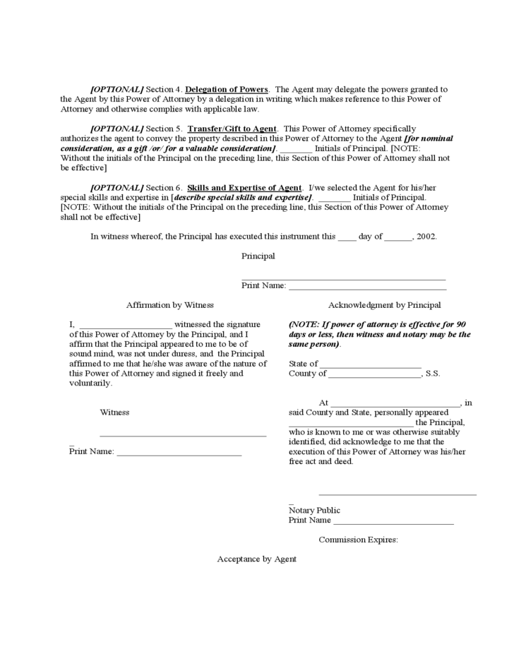 Real Estate Power Of Attorney Form Vermont Free Download