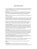Real Estate Rental and Lease Template Free Download