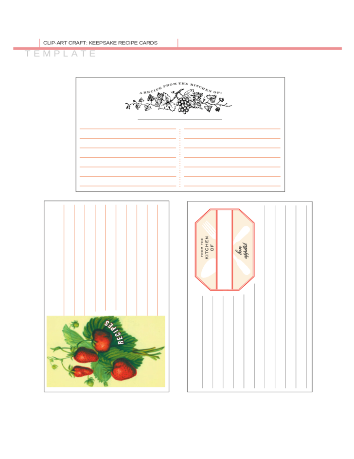 sd card label template - sample recipe card template free download