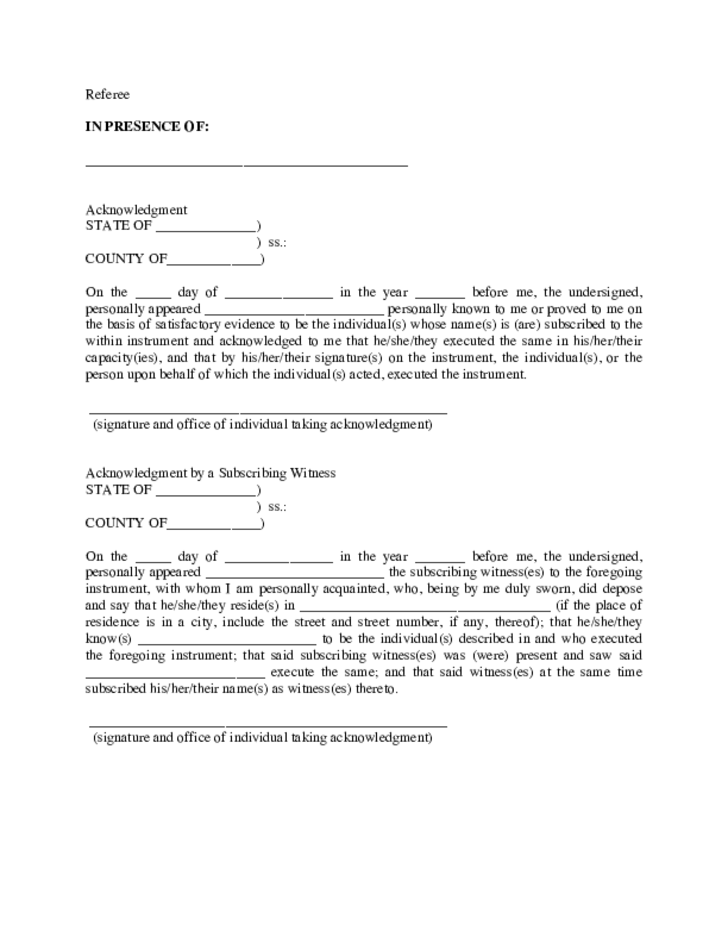 referee u0026 39 s deed in foreclosure example
