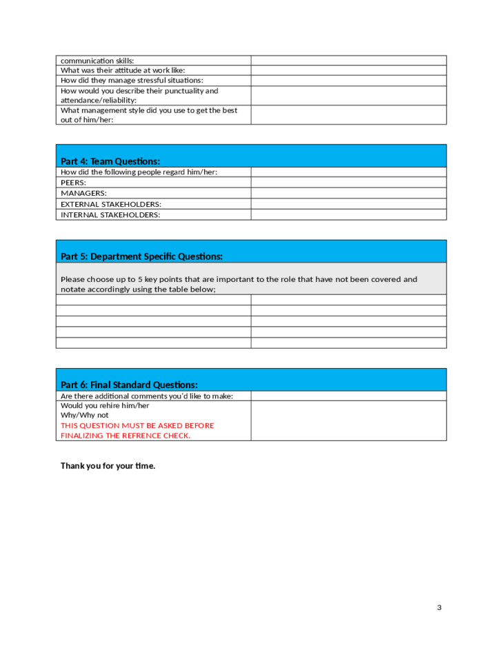 best employment reference checking template free download