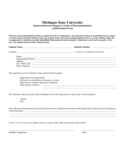 Student Reference Request/Letter of Recommendation Authorization Form Free Download