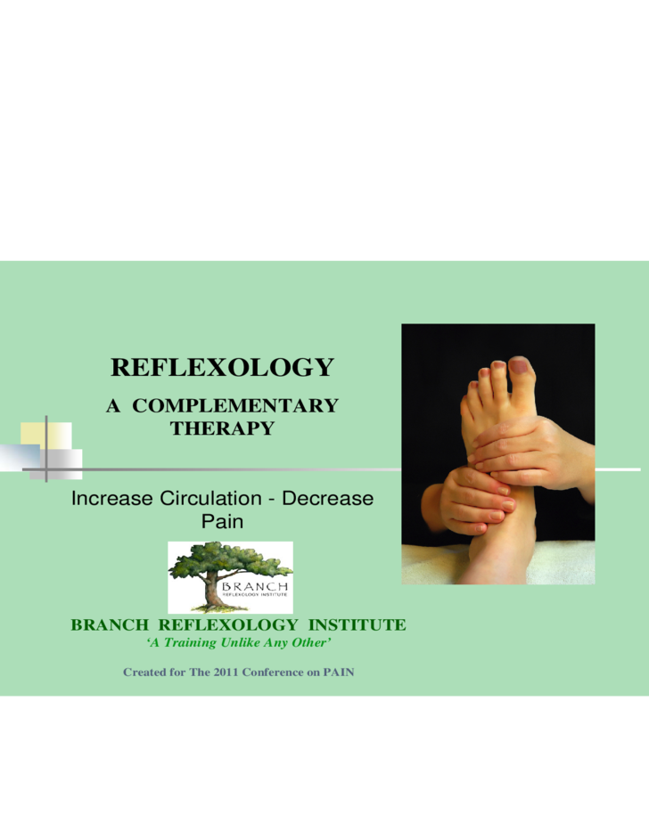 reflexology therapy template free download