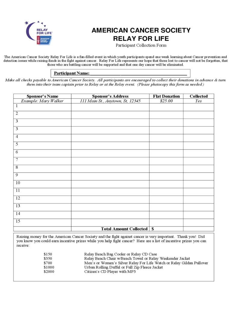 relay for life donation form