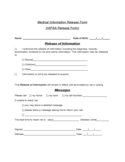 Medical Information Release Form - HIPAA Free Download