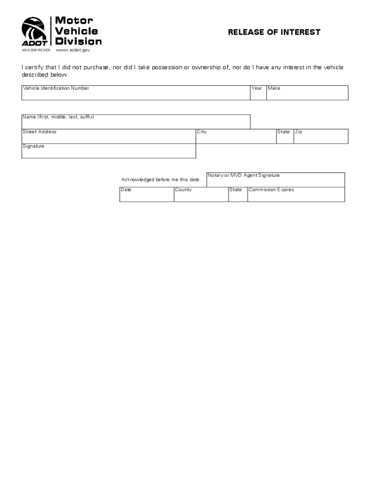 Attirant 1 Simple Release Of Interest Form