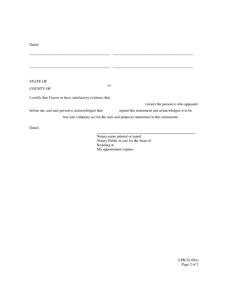 Partial Release of Mortgage Form - Washingson Free Download