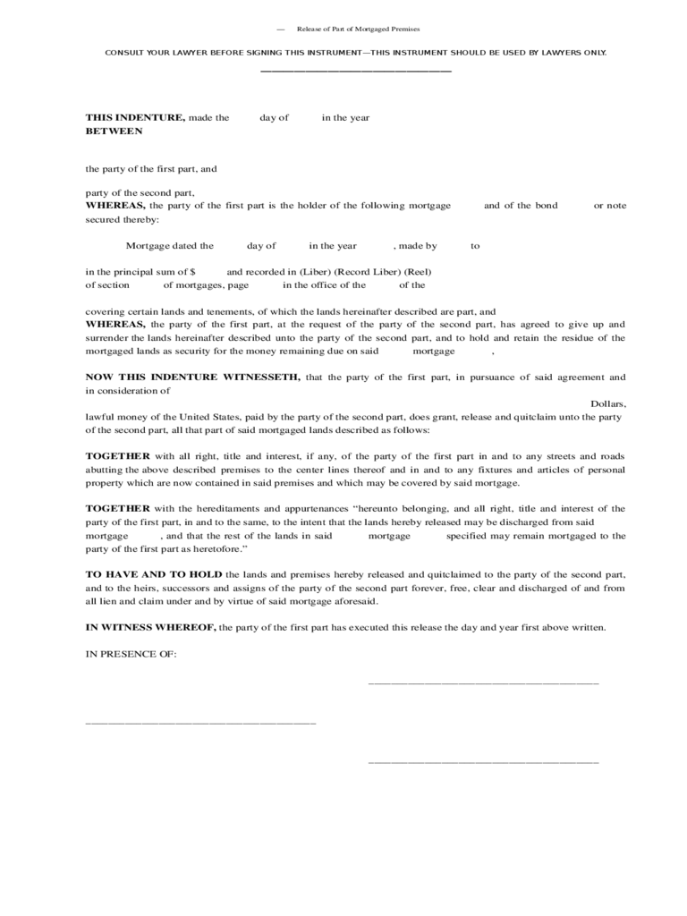 partial lien waiver template - release of mortgage form 8 free templates in pdf word