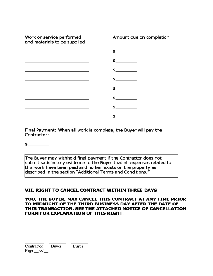 free remodeling contract template