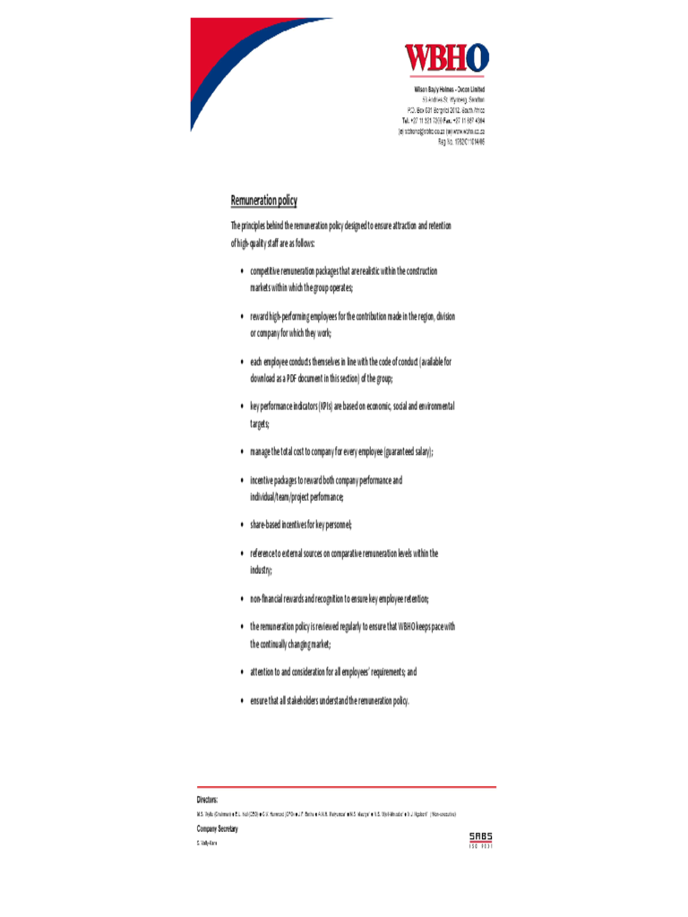 remuneration policy template 2 free templates in pdf word excel