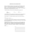 Certificate of Non-Foreign Status Free Download