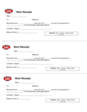 Rent Receipt Sample Form Free Download