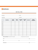 Sample Form for Rent Roll Free Download