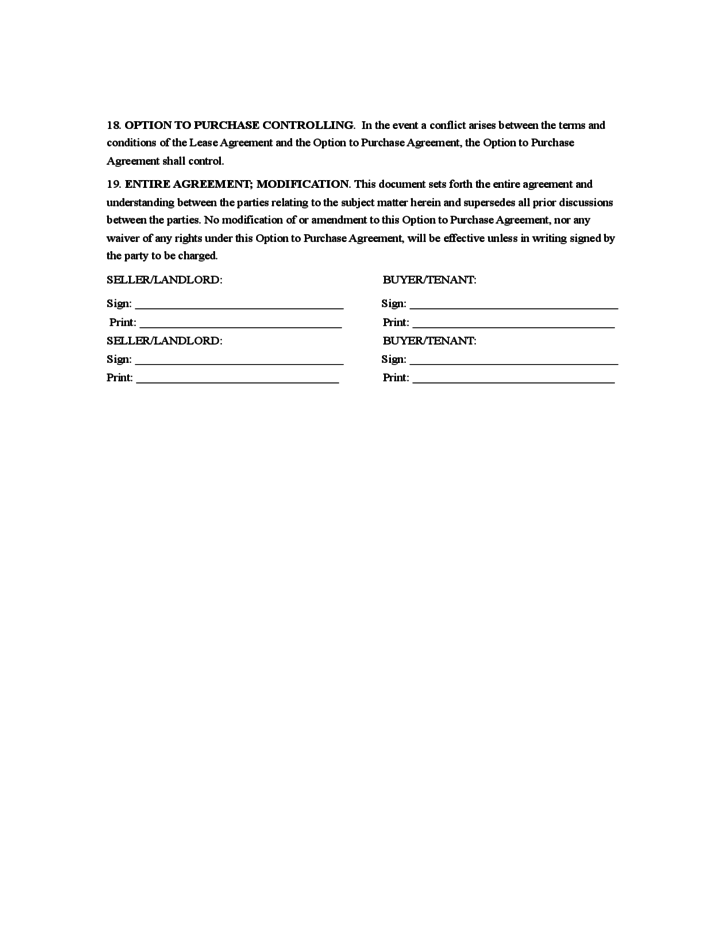 rent to own agreement template free download