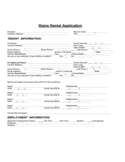 Maine Rental Application