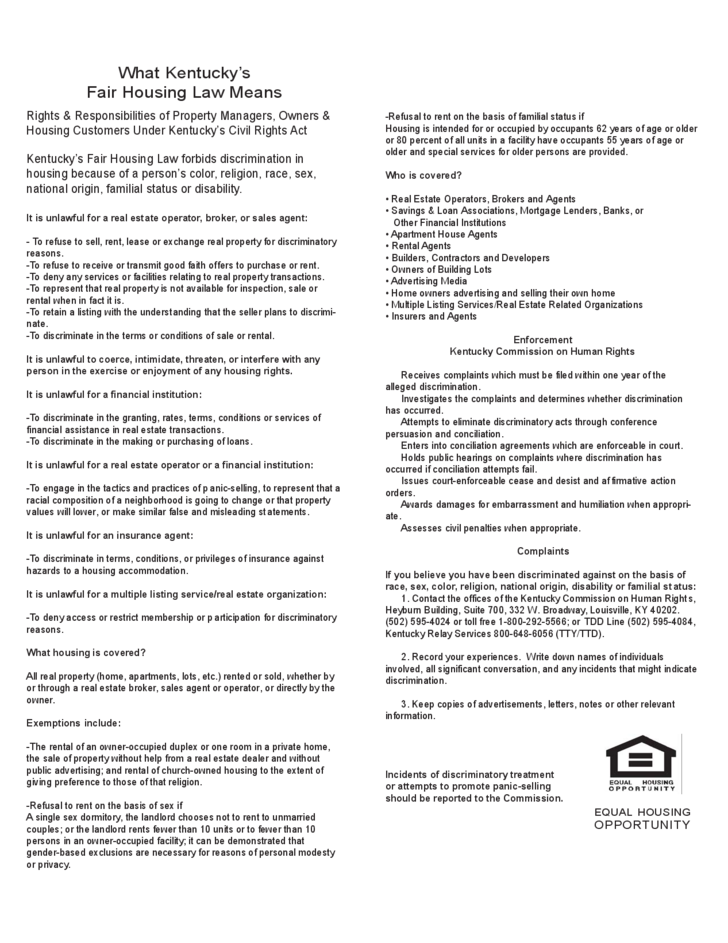 Kentucky Rental Application