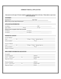 Vermont Rental Application